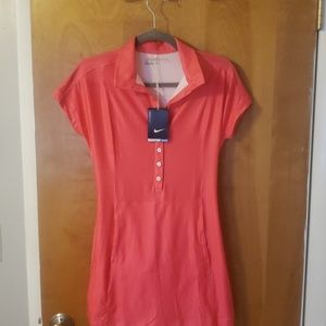 Nike pink Girls golf dress